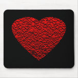 Bright Red Heart Picture. Mouse Pad