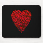 Bright Red Heart Picture. Mousepad