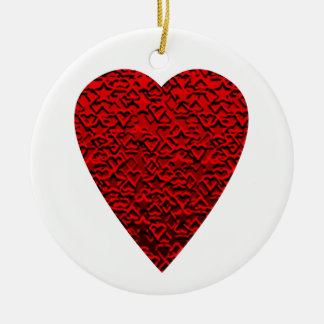 Bright Red Heart Picture Ornament