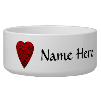 Bright Red Heart Picture. Pet Bowls