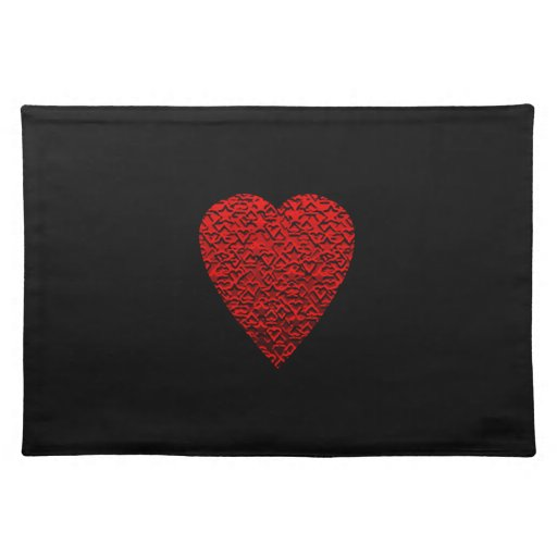 Bright Red Heart Picture. Placemats