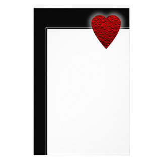 Bright Red Heart Picture. Stationery Design