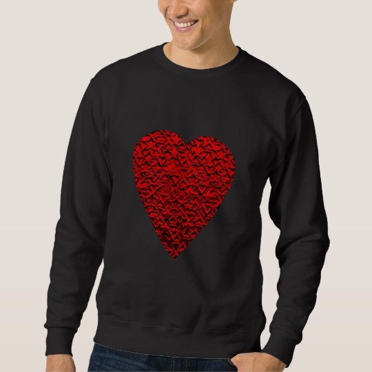 Bright Red Heart Picture. Sweatshirt