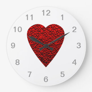 Bright Red Heart Picture. Wallclock