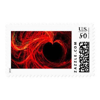 Bright Red Heart Postage Stamp