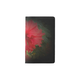 bright red hibiscus pocket moleskine notebook