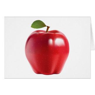 Bright Red Juicy Delicious Apple Card