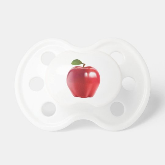 Bright Red Juicy Delicious Apple Pacifier