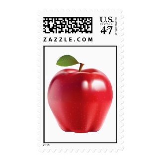 Bright Red Juicy Delicious Apple Postage