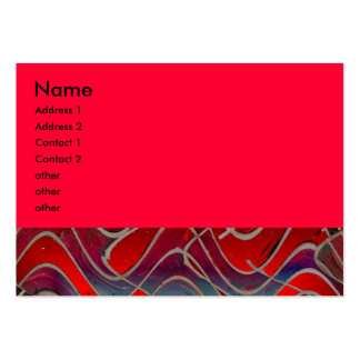 bright  red large business cards (Pack of 100)