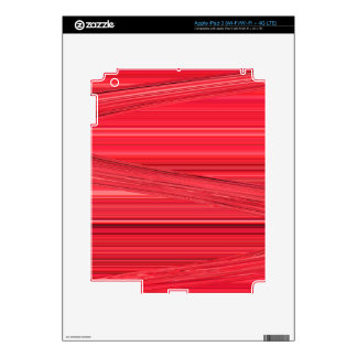 Bright Red Lines Design Digital Art Skin For iPad 3