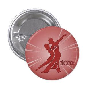 Bright Red Logo Round Button