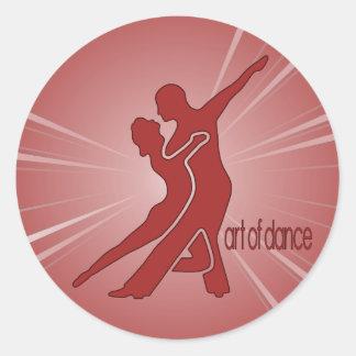 Bright Red Logo Round Sticker