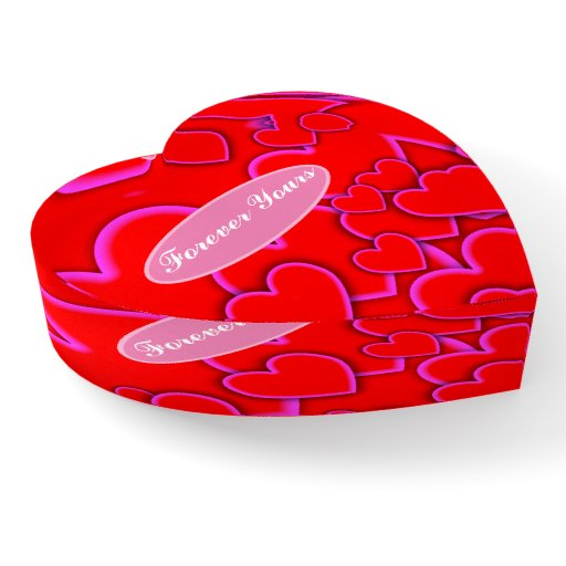 Bright Red Love Hearts Custom Name Names Paperweight