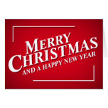Bright Red Merry Christmas Greetings Card at Zazzle