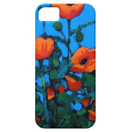 Bright Red/Orange Poppies, Flowers: Nature Art iPhone 5 Cover