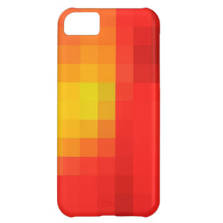 Bright Red Orange & Yellow Mosaic Abstract Pattern Case For iPhone 5C