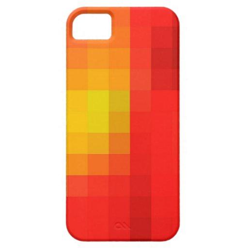 Bright Red Orange & Yellow Mosaic Abstract Pattern iPhone 5 Covers