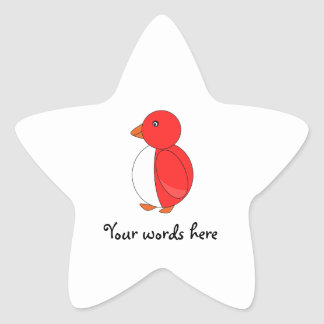 Bright red penguin stickers
