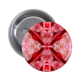 Bright Red Pink Abstract 2 Inch Round Button