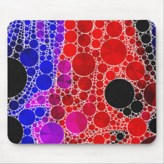 Bright Red Pink Blue Abstract Mouse Pad