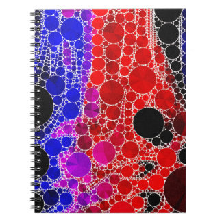 Bright Red Pink Blue Abstract Notebook