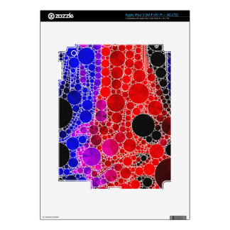 Bright Red Pink Blue Abstract Skins For iPad 3