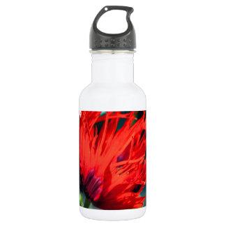 Bright Red Poppy Flower 18oz Water Bottle