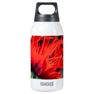 Bright Red Poppy Flower 10 Oz Insulated SIGG Thermos Water Bottle