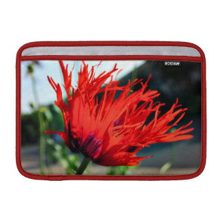 Bright Red Poppy Flower Sleeves For MacBook Air