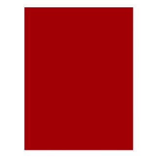 Bright Red Postcard