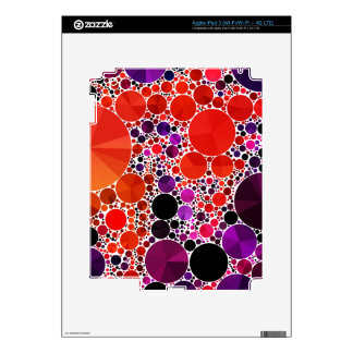 Bright Red Purple Bling Abstract Decals For iPad 3