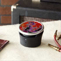 Bright Red Purple Bling Abstract Speaker