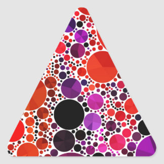 Bright Red Purple Bling Abstract Triangle Sticker