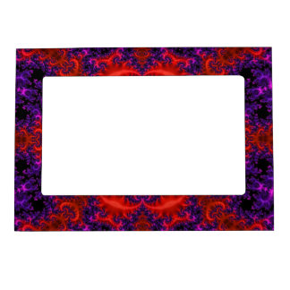 Bright Red Purple Fractal Magnetic Frame
