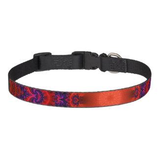 Bright Red Purple Fractal Pet Collar