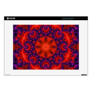 Bright Red Purple Fractal Skin For Laptop