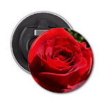 Bright Red Rose Flower Beautiful Floral Bottle Opener