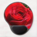 Bright Red Rose Flower Beautiful Floral Gel Mouse Pad