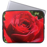 Bright Red Rose Flower Beautiful Floral Laptop Sleeve