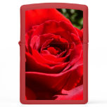 Bright Red Rose Flower Beautiful Floral Zippo Lighter