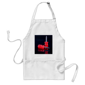Bright Red Screwdrivers - Tool Print Adult Apron