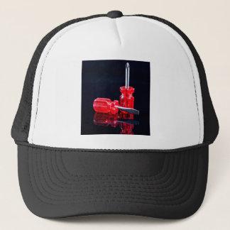 Bright Red Screwdrivers - Tool Print Trucker Hat