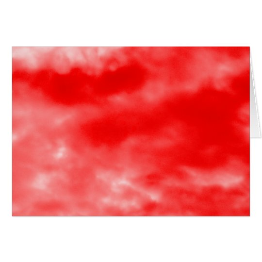 Bright Red Sky Pattern Card