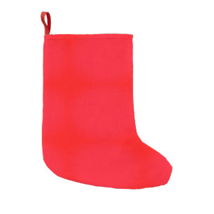 bright red solid color small christmas stocking