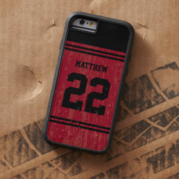 Bright Red Sport Jersey Number iPhone 6 Tough Xtreme iPhone 6 Case