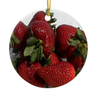 Bright Red Strawberry Ornament ornament