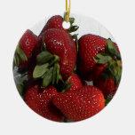 Bright Red Strawberry Ornament