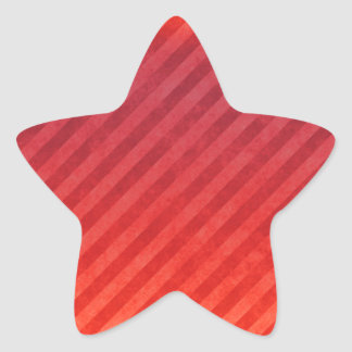 Bright Red Stripes Star Sticker