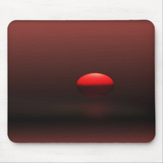 Bright Red Sunset Mousepad